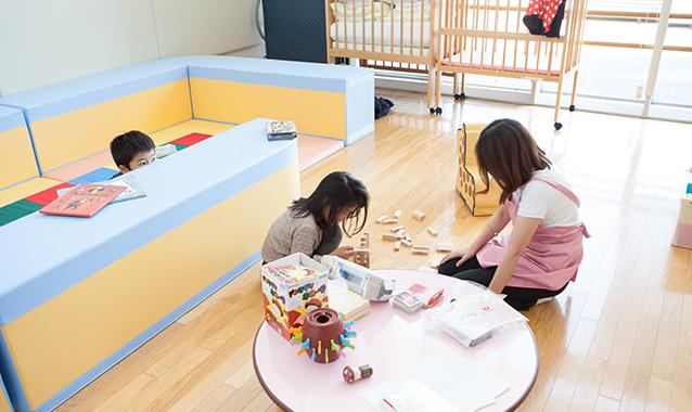 日精看の学術集会は託児室を設置しています